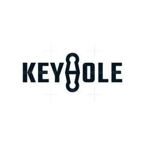 Letter H Keyhole Logo