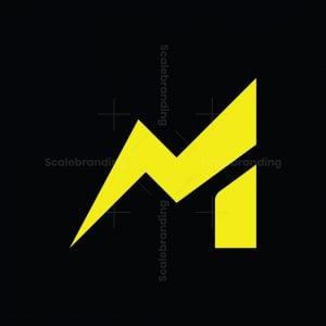 Letter M Lightning Logo