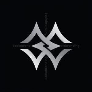 Ambigram Wm Mw Or Ee Star Logo
