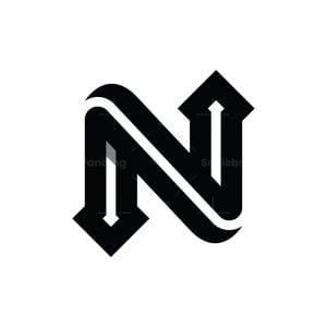 Letter N Arrow Logo