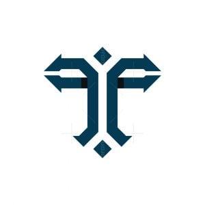 Letter T Arrow Logo