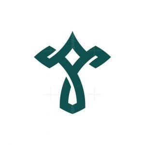 Letter T Star Logo