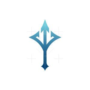 Stylish Trident Star Logo