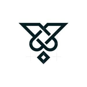 Letter V Ace Logo