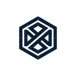Letter X Hexagon Logo