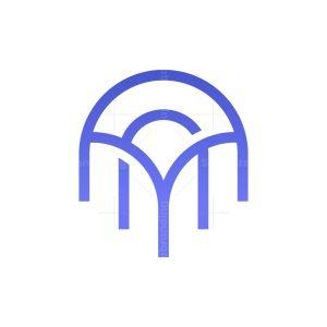 Letter A Jellyfish Logo