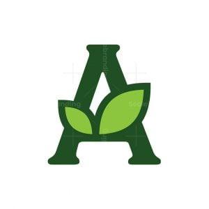 Letter A Plant Logo