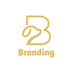 Letter B Dog Logo