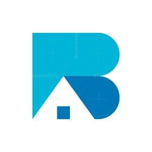 Letter B House Logo