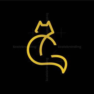 Letter C Cat Logo