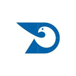 Letter D Bird Logo