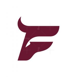 Letter F Bull Logo