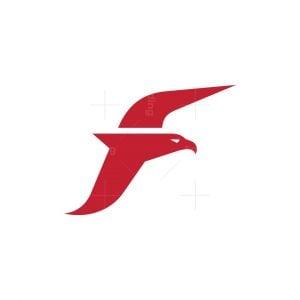 Letter F Eagle Logo