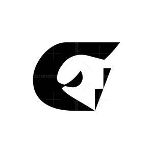 Letter G Ghost Logo