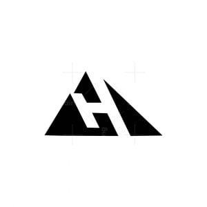 Letter H Mountain Logo