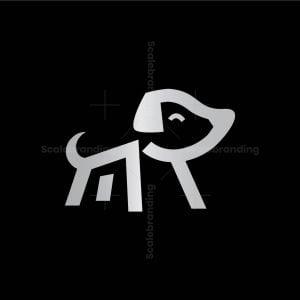 Letter M Dog Logo
