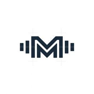 Letter M Gym Logo