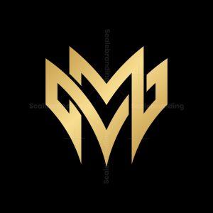 Letter Mv Or Vm Monogram Logo