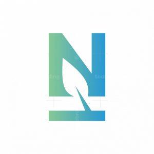 Letter N Leaf Logo
