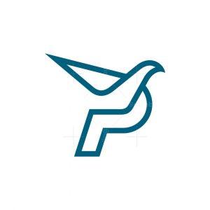 Letter P Bird Logo