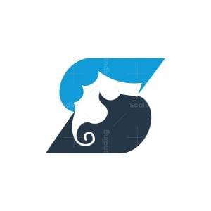 Letter S Seahorse Logo