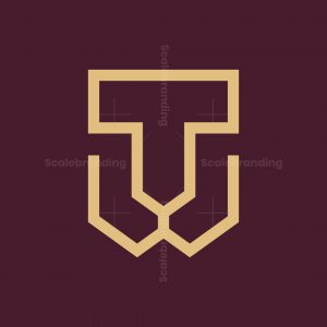 Letter T Lion Logo
