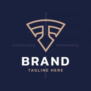 Letter T Spear Logo