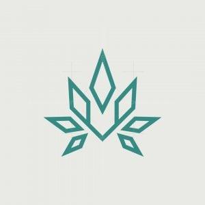 Letter V Fox Cannabis Logo