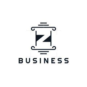 Letter Z Pillar Logo
