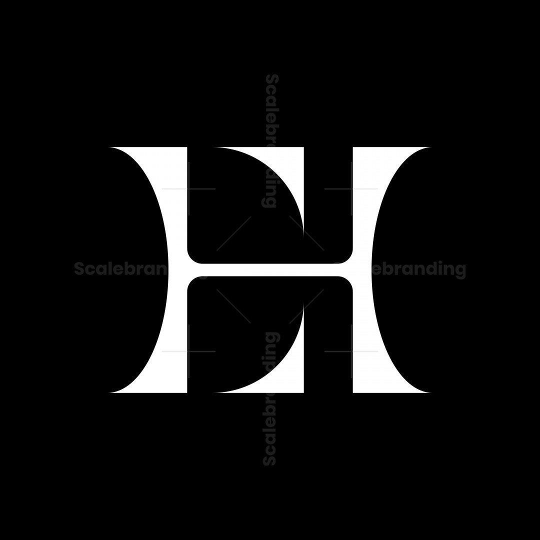 Letter E H Logo