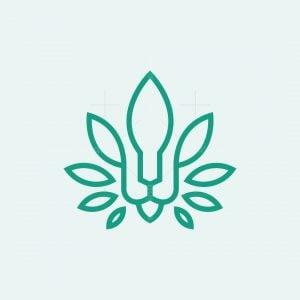 Lion Cannabis Leaf Logo