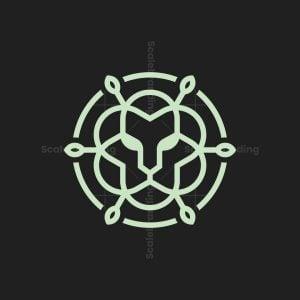 Lion Flower Logo