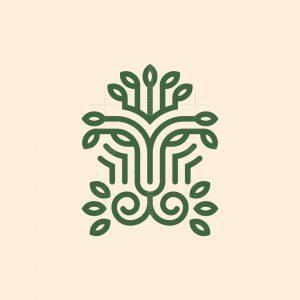 Lion Leaves Logo