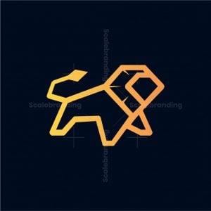 Lion Geometric Logo