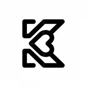 Love K Letter Logos
