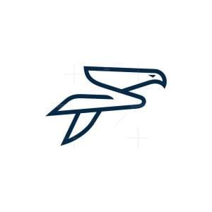 Minimal Letter F Falcon Logo