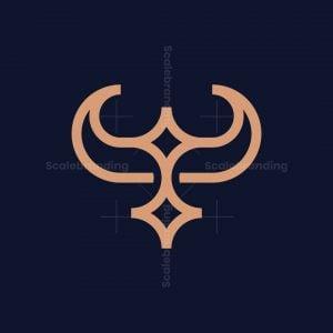 Minimalist Bull Bird Logo