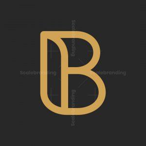Modern Letter B Gold Logo