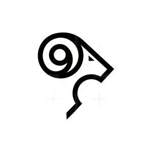 Ram Horn Nine Logo