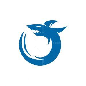 O Shark Letter Logo
