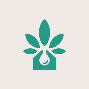 Oil Cannabis House Logo