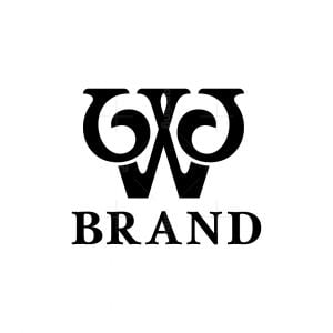 Ornament Letter W Logo