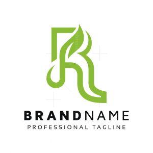 R Leaf Plant Logo