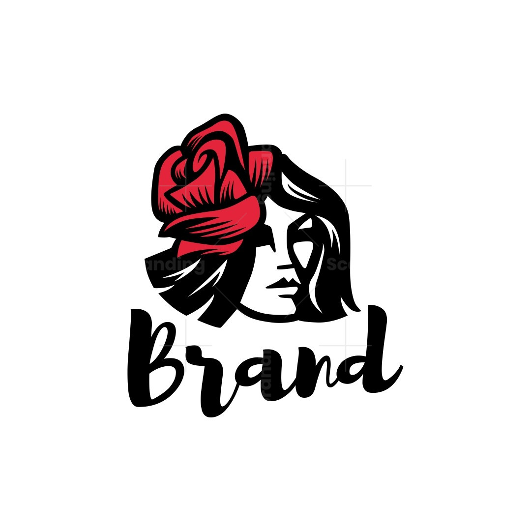 Rose Hair Woman Logo