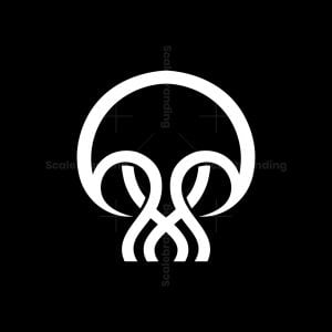 Skull Jellyfish Logo