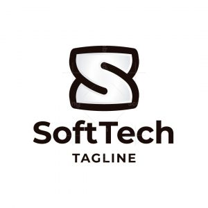 Soft Tech Letter S Logo