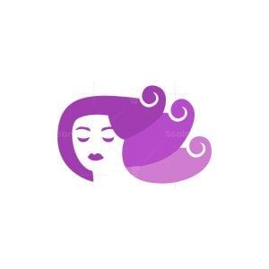 Spiral Hair Girl Logo