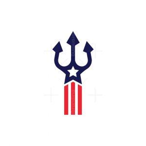 Star Flag Trident Logo