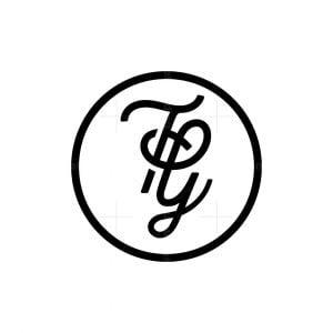 Stylish Letter Tg Logo