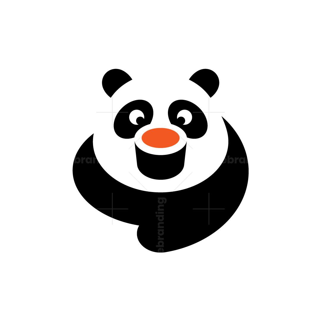 Sushi Cheerful Panda Logo